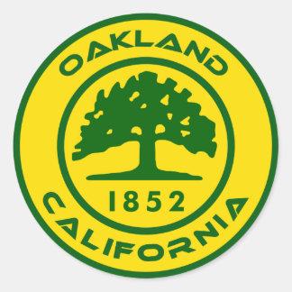 Oakland, Clalifornia 1852 Classic Round Sticker