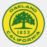 Oakland, Clalifornia 1852 Pegatina Redonda