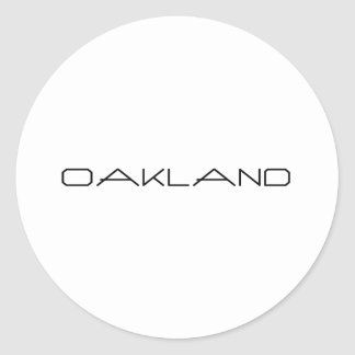 Oakland Classic Round Sticker