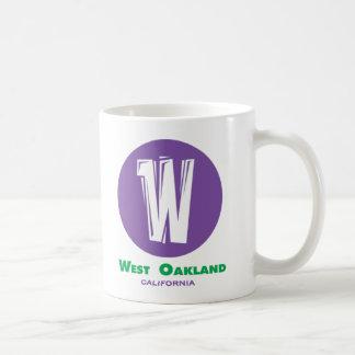 Oakland del oeste taza de café