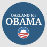 OAKLAND for Obama custom your city personalized Classic Round Sticker