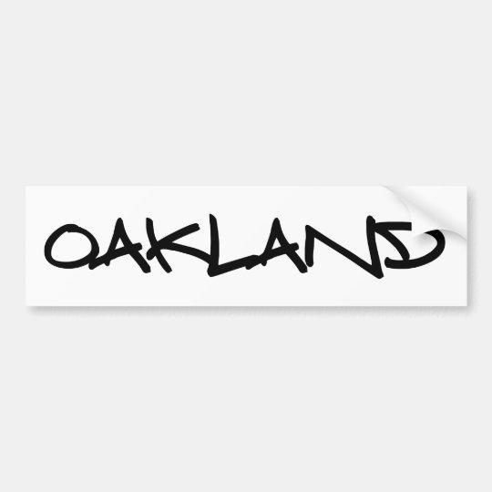 Oakland Graffiti Bumper Sticker