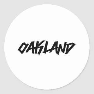 Oakland Graffiti Classic Round Sticker
