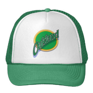 Oakland greenbangle cap trucker hat