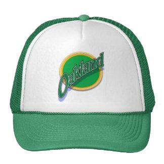 Oakland greenbangle cap trucker hat