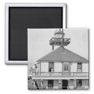 Oakland Harbor Lighthouse 2 Inch Square Magnet