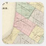 Oakland index map square sticker