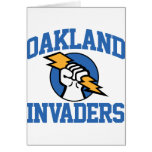 Oakland Invaders Greeting Card