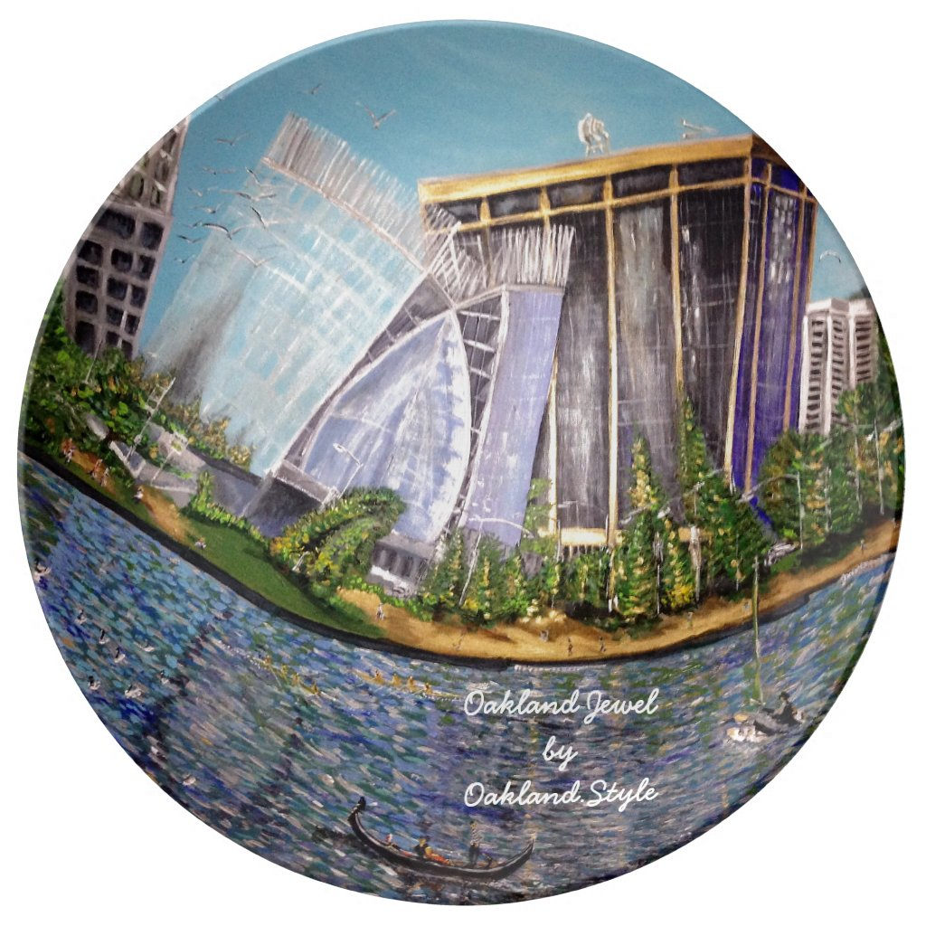 Oakland Jewel Porcelain Decorative Plate