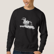 Oakland landmarks, Port of Oakland Cranes, Zipcode Sweatshirt
