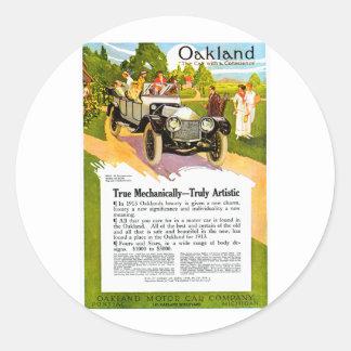 Oakland Motor Car ~ Vintage 1913 Auto Ad Stickers