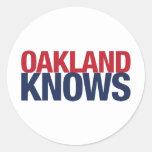 Oakland sabe pegatinas redondas