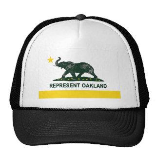 Oakland State Flag (Light) elephant 2 Trucker Hat