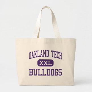 Oakland Tech - Bulldogs - High - Oakland Large Tote Bag