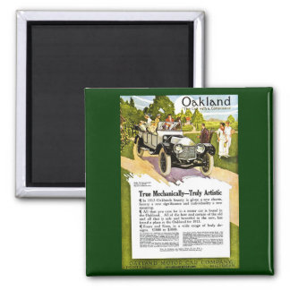 Oakland - The Car with a Consicence 2 Inch Square Magnet