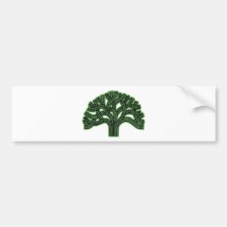 Oakland Tree Green Haze Bumper Sticker
