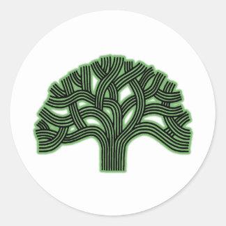 Oakland Tree Green Haze Classic Round Sticker