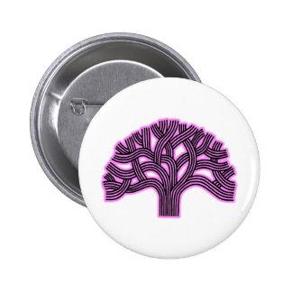 Oakland Tree Pink Haze 2 Inch Round Button