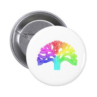 Oakland Tree Rainbow 2 Inch Round Button