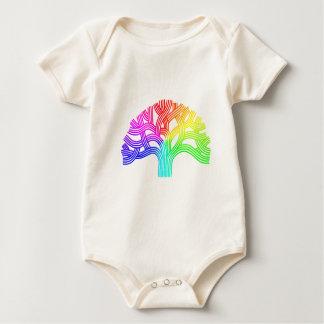 Oakland Tree Rainbow Baby Bodysuit