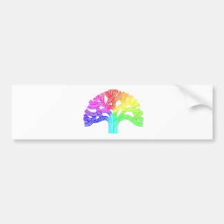 Oakland Tree Rainbow Car Bumper Sticker