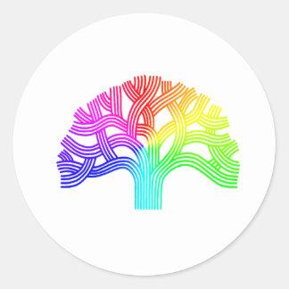 Oakland Tree Rainbow Classic Round Sticker
