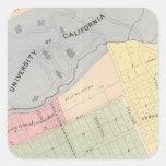 Oakland, vecindad 16 pegatina cuadrada