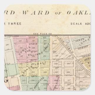Oakland, vecindad 3 pegatinas cuadradases