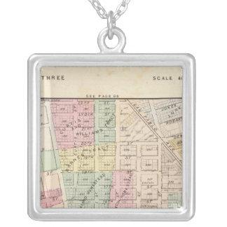 Oakland, vicinity 3 square pendant necklace