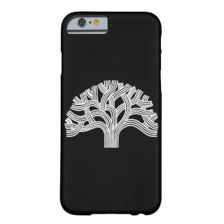 Oakland White Oak Tree on Black Barely There iPhone 6 Case