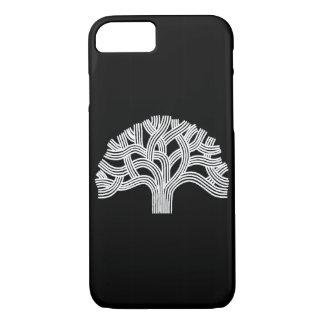 Oakland White Oak Tree on Black iPhone 8/7 Case