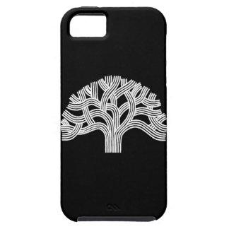 Oakland White Oak Tree on Black iPhone SE/5/5s Case