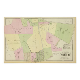 Oaklands and Smith Plat Atlas Map Poster