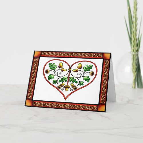 Oakleaf Heart Card