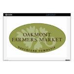 "Oakmont Farmers Market Logo 17"" Laptop Decals"