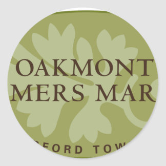 Oakmont Farmers Market Logo Classic Round Sticker