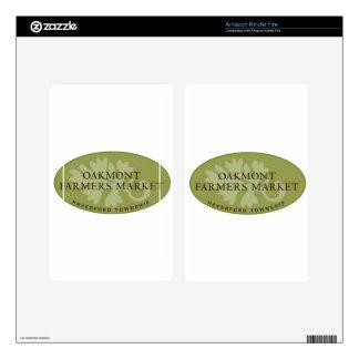 Oakmont Farmers Market Logo Kindle Fire Skin