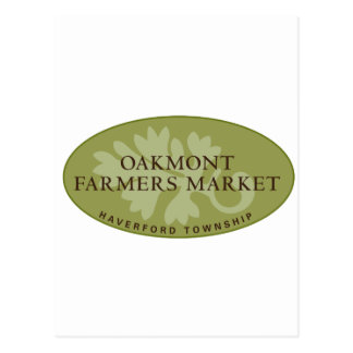 Oakmont Farmers Market Logo Postcard