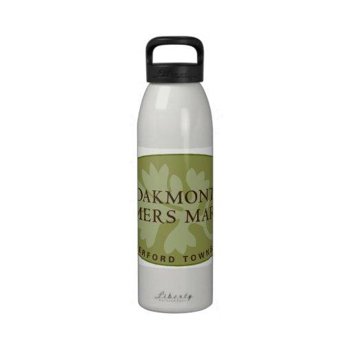 Oakmont Farmers Market Logo Water Bottle