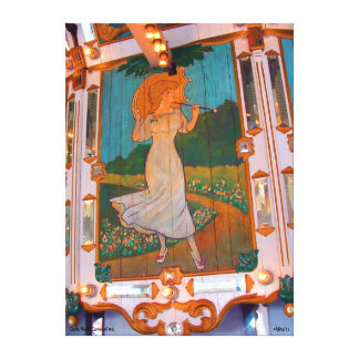 Oaks Park Carousel #2 Canvas Print