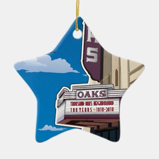 Oaks Theater on Solano Avenue in Berkeley, CA Ceramic Ornament