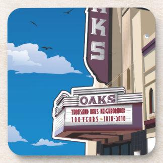 Oaks Theater on Solano Avenue in Berkeley, CA Coaster