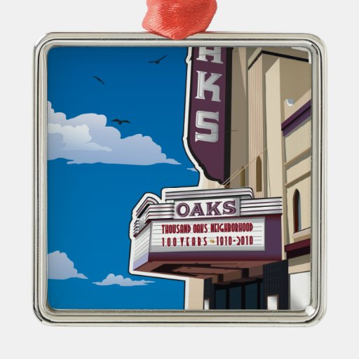 Oaks Theater on Solano Avenue in Berkeley, CA Christmas Ornament
