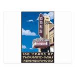 Oaks Theater on Solano Avenue in Berkeley, CA Postcard