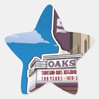 Oaks Theater on Solano Avenue in Berkeley, CA Star Sticker