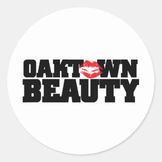 Oaktown Beauty Circle Sticker