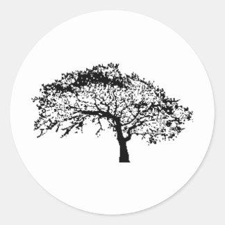 Oaktreefall Round Sticker