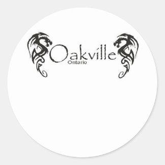 Oakville Pegatina Redonda