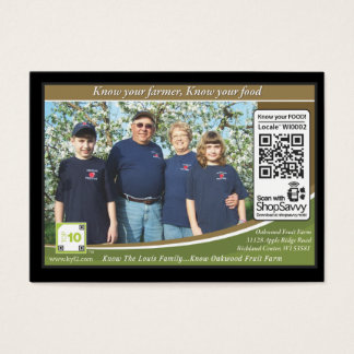Oakwood Fruit Farm Traceable Shelftalker Business Card