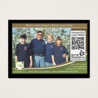 Oakwood Fruit Farm Traceable Shelftalker Business Card